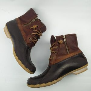 Sperry SALTWATER Brown Leather duck boot STS91176